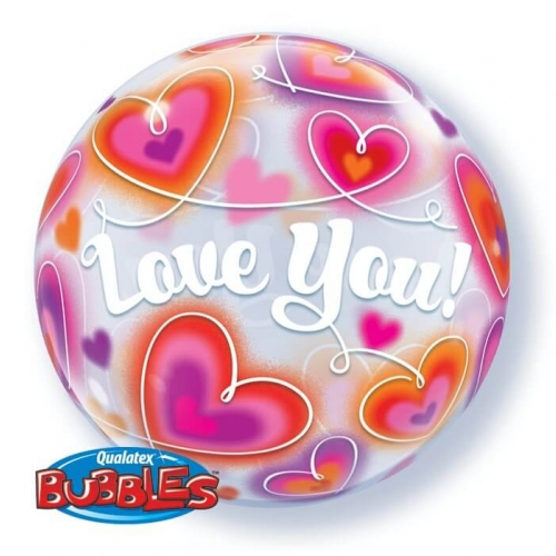 Balão Bubble Love You