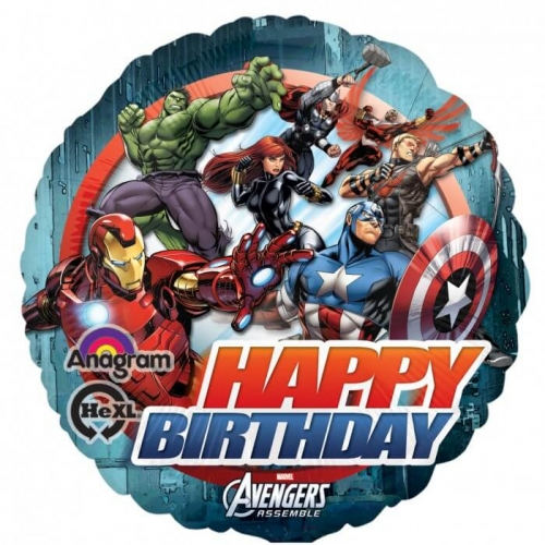 BALÃO HAPPY BIRTHDAY AVENGERS