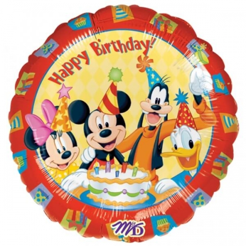 Balão Mickey Happy Birthday